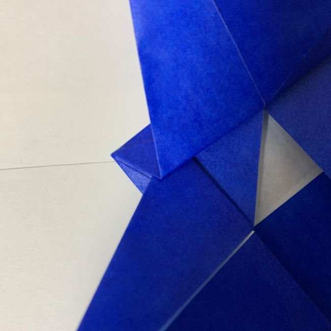 バイキンマンの折り紙 簡単な折り方作り方 (17)