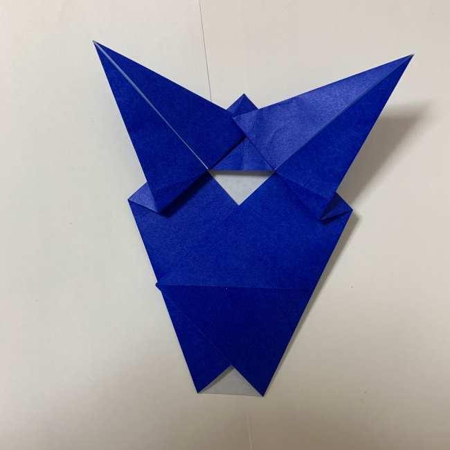 バイキンマンの折り紙 簡単な折り方作り方 (18)