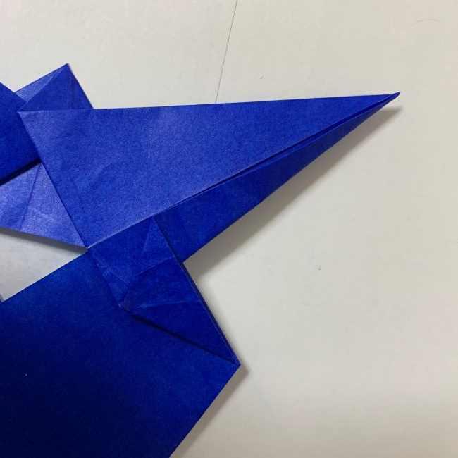 バイキンマンの折り紙 簡単な折り方作り方 (19)