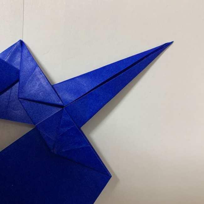 バイキンマンの折り紙 簡単な折り方作り方 (20)