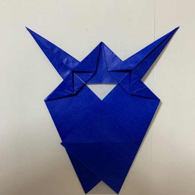 バイキンマンの折り紙 簡単な折り方作り方 (21)