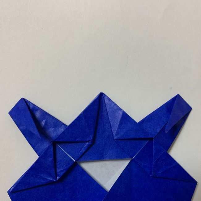 バイキンマンの折り紙 簡単な折り方作り方 (22)