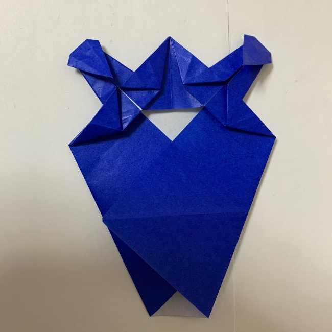 バイキンマンの折り紙 簡単な折り方作り方 (25)