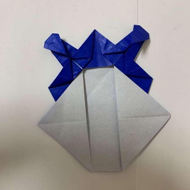 バイキンマンの折り紙 簡単な折り方作り方 (26)