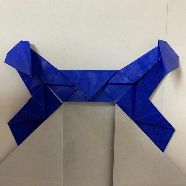 バイキンマンの折り紙 簡単な折り方作り方 (27)
