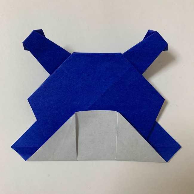 バイキンマンの折り紙 簡単な折り方作り方 (28)