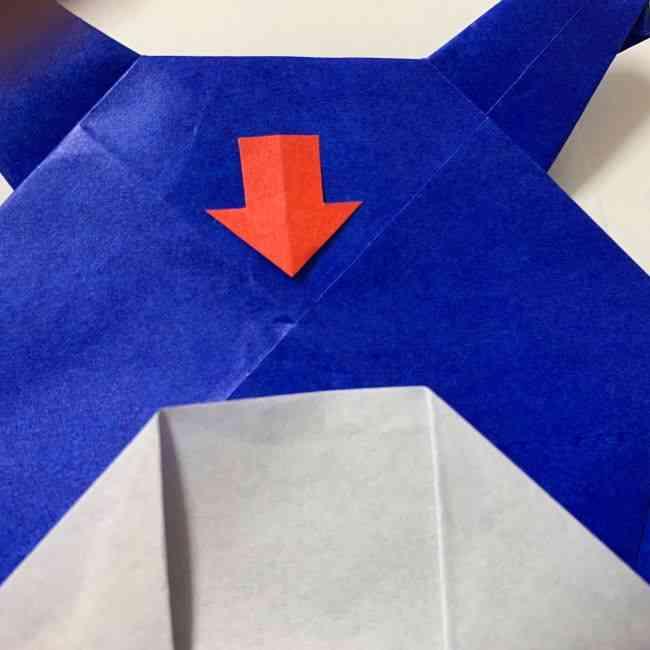 バイキンマンの折り紙 簡単な折り方作り方 (29)