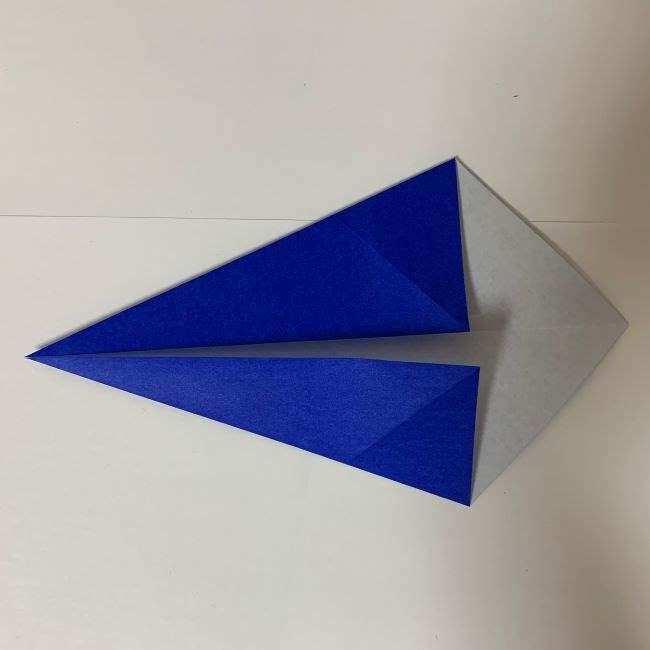バイキンマンの折り紙 簡単な折り方作り方 (3)