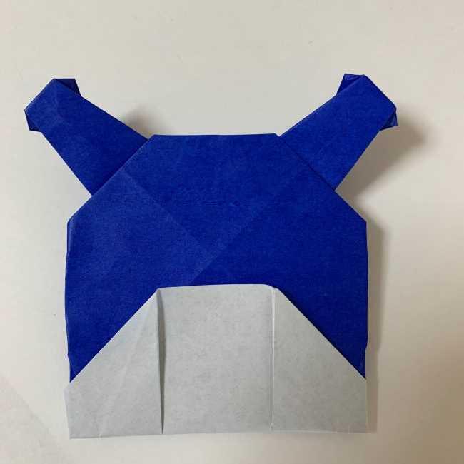 バイキンマンの折り紙 簡単な折り方作り方 (30)