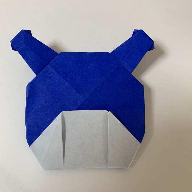 バイキンマンの折り紙 簡単な折り方作り方 (31)