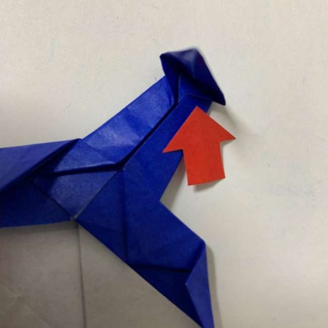 バイキンマンの折り紙 簡単な折り方作り方 (32)