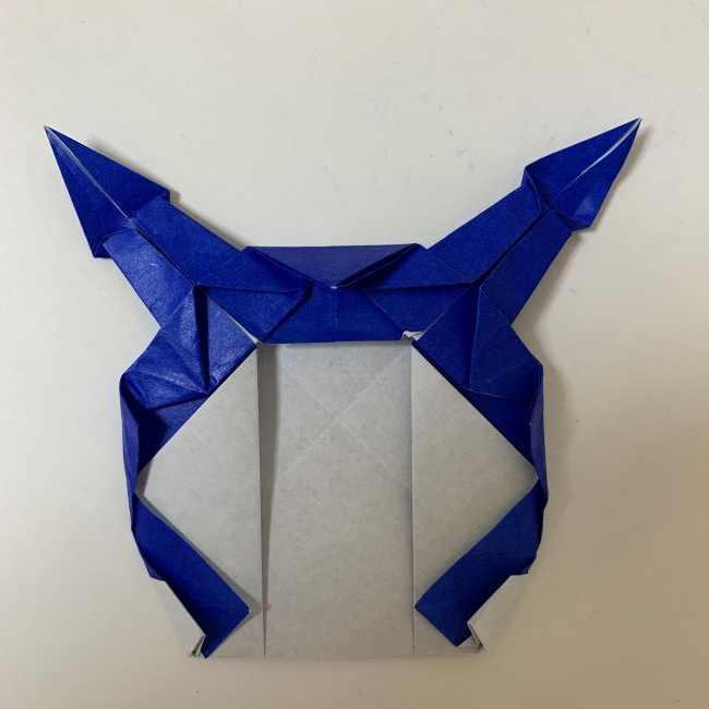 バイキンマンの折り紙 簡単な折り方作り方 (34)