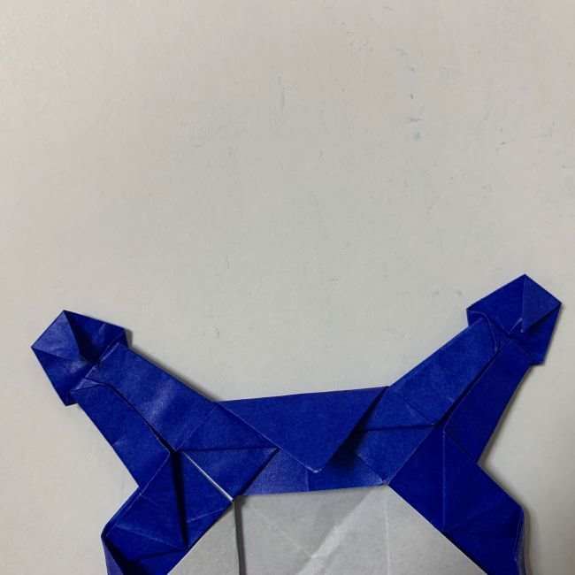 バイキンマンの折り紙 簡単な折り方作り方 (35)