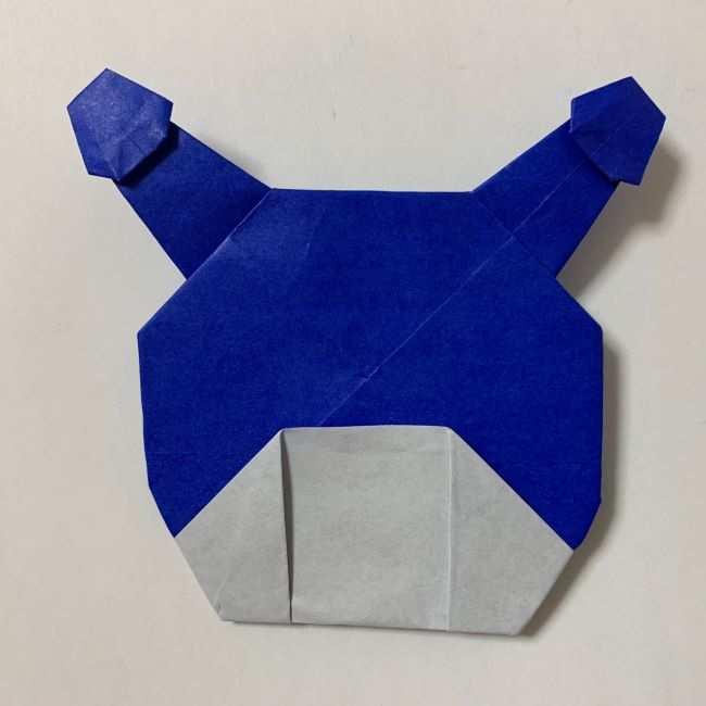 バイキンマンの折り紙 簡単な折り方作り方 (36)