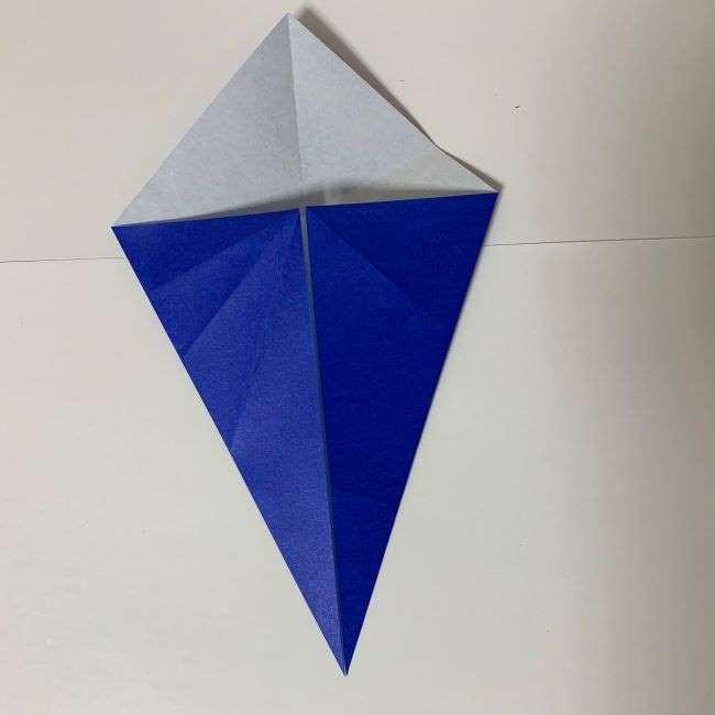 バイキンマンの折り紙 簡単な折り方作り方 (5)
