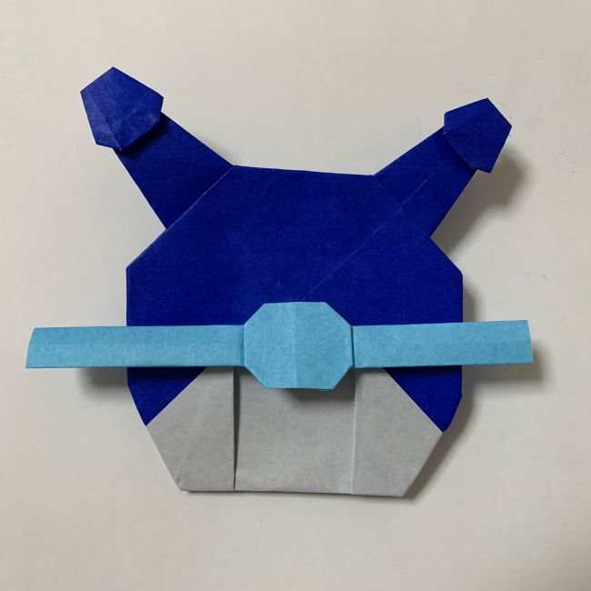 バイキンマンの折り紙 簡単な折り方作り方 (51)