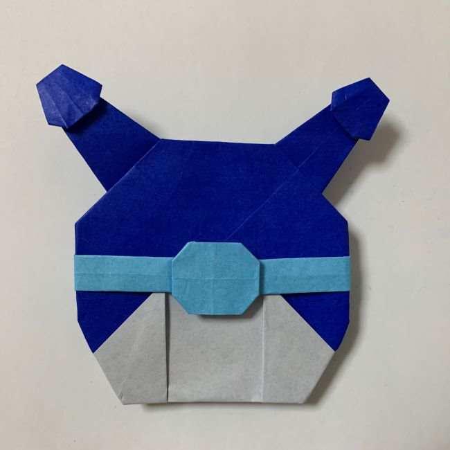 バイキンマンの折り紙 簡単な折り方作り方 (52)