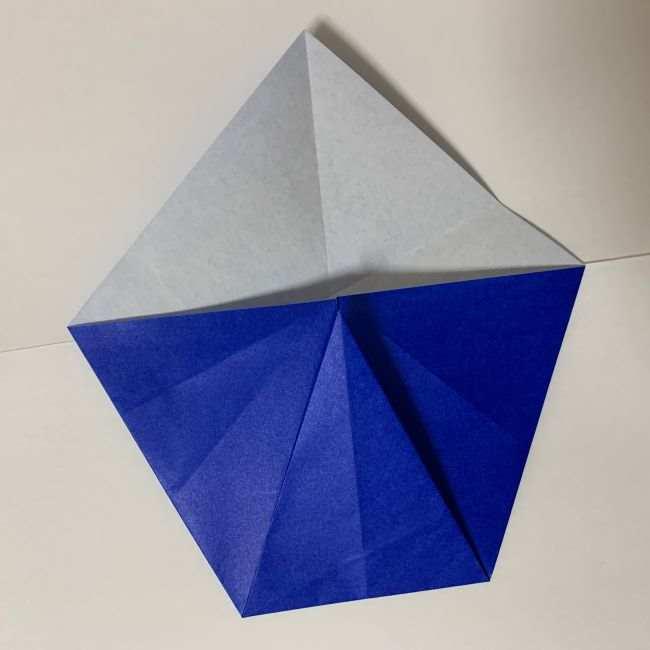 バイキンマンの折り紙 簡単な折り方作り方 (6)