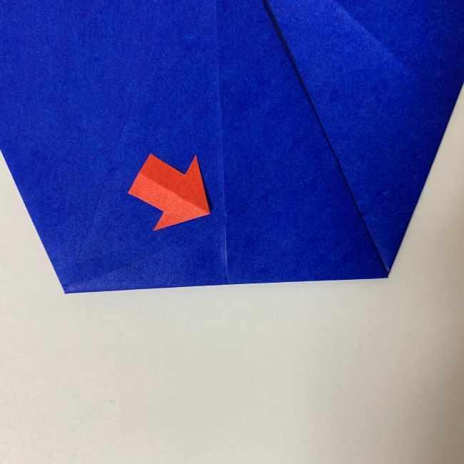 バイキンマンの折り紙 簡単な折り方作り方 (7)