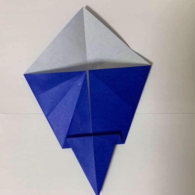 バイキンマンの折り紙 簡単な折り方作り方 (8)