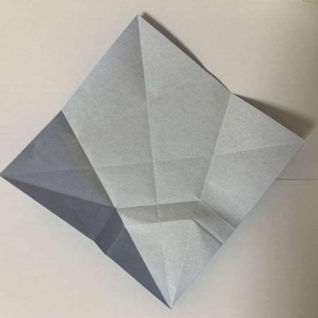 バイキンマンの折り紙 簡単な折り方作り方 (9)