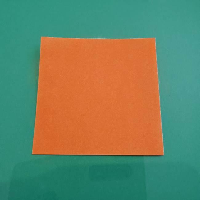 ヒトカゲの折り紙の簡単な折り方作り方①顔(1)
