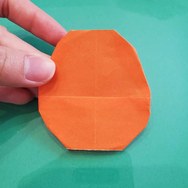 ヒトカゲの折り紙の簡単な折り方作り方①顔(10)