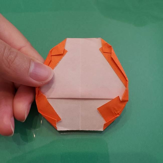 ヒトカゲの折り紙の簡単な折り方作り方①顔(11)