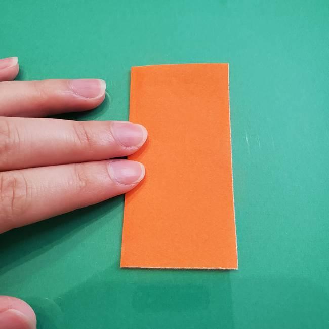 ヒトカゲの折り紙の簡単な折り方作り方①顔(2)