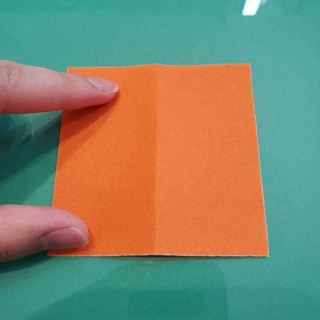 ヒトカゲの折り紙の簡単な折り方作り方①顔(3)