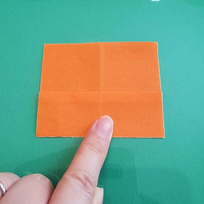 ヒトカゲの折り紙の簡単な折り方作り方①顔(5)