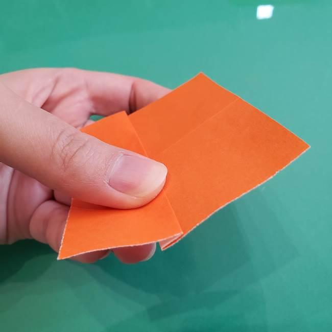 ヒトカゲの折り紙の簡単な折り方作り方①顔(6)
