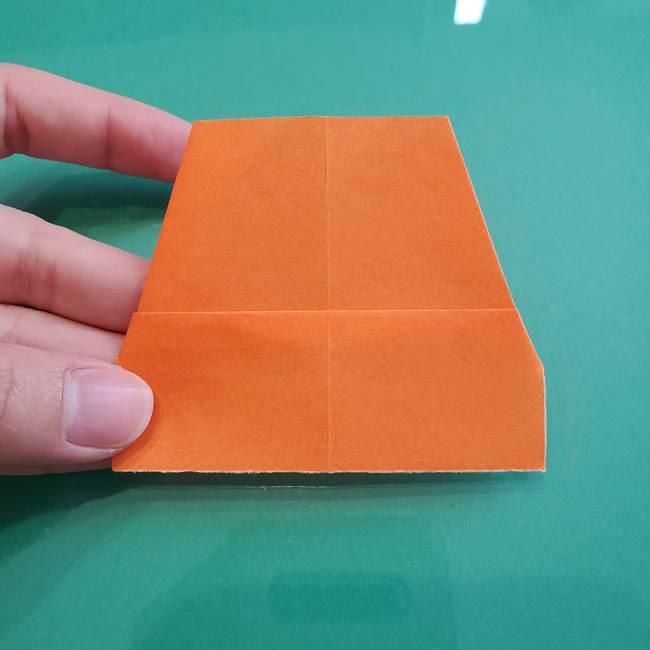 ヒトカゲの折り紙の簡単な折り方作り方①顔(7)