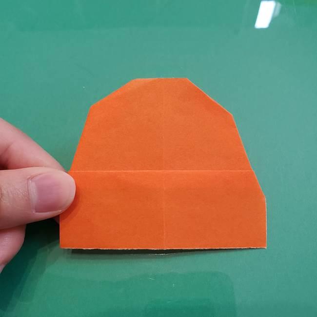 ヒトカゲの折り紙の簡単な折り方作り方①顔(8)