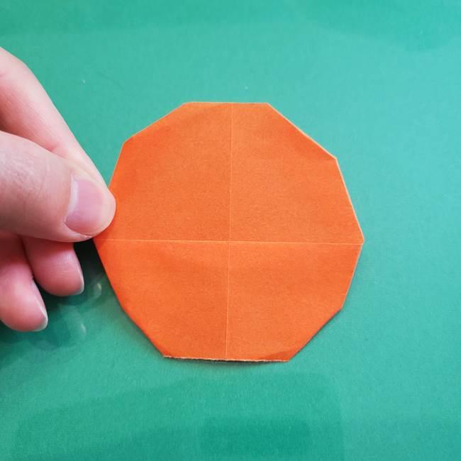 ヒトカゲの折り紙の簡単な折り方作り方①顔(9)