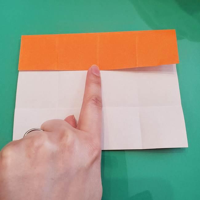 ヒトカゲの折り紙の簡単な折り方作り方②からだ(10)