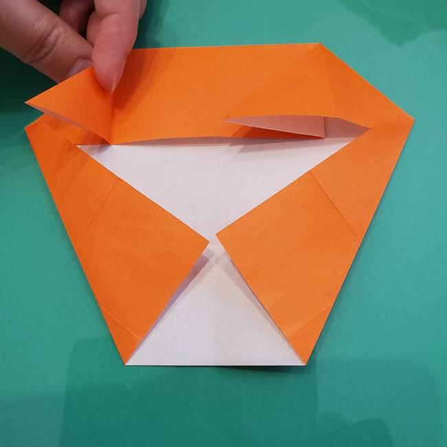 ヒトカゲの折り紙の簡単な折り方作り方②からだ(17)