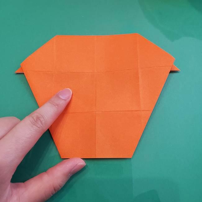 ヒトカゲの折り紙の簡単な折り方作り方②からだ(19)