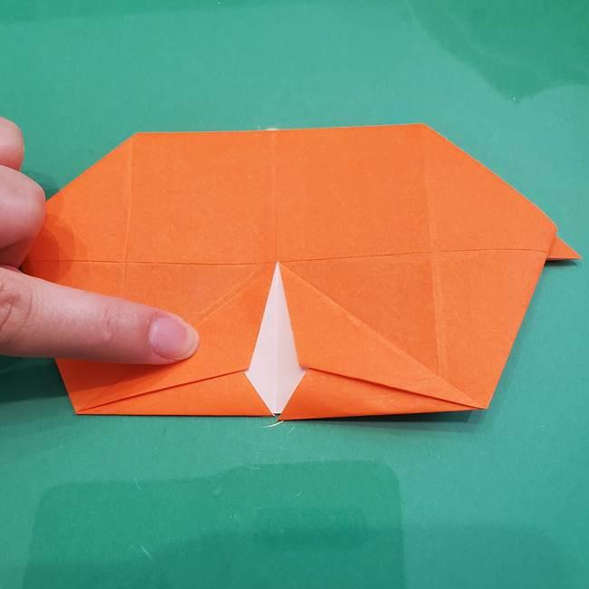 ヒトカゲの折り紙の簡単な折り方作り方②からだ(21)