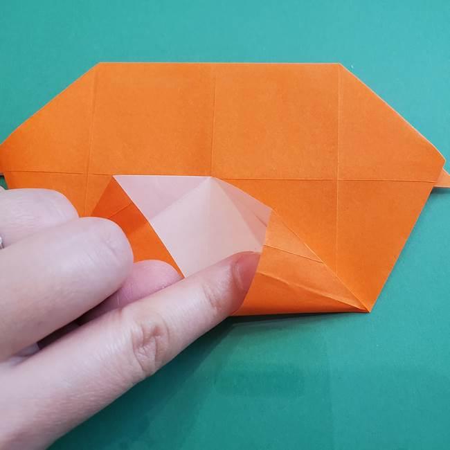 ヒトカゲの折り紙の簡単な折り方作り方②からだ(23)