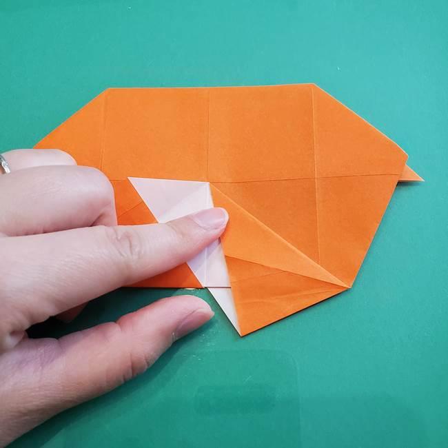 ヒトカゲの折り紙の簡単な折り方作り方②からだ(24)