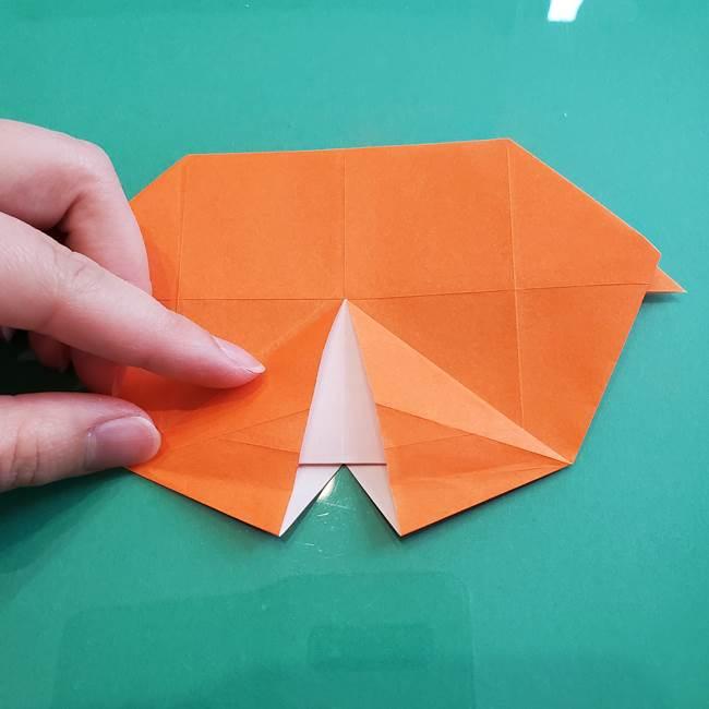 ヒトカゲの折り紙の簡単な折り方作り方②からだ(25)