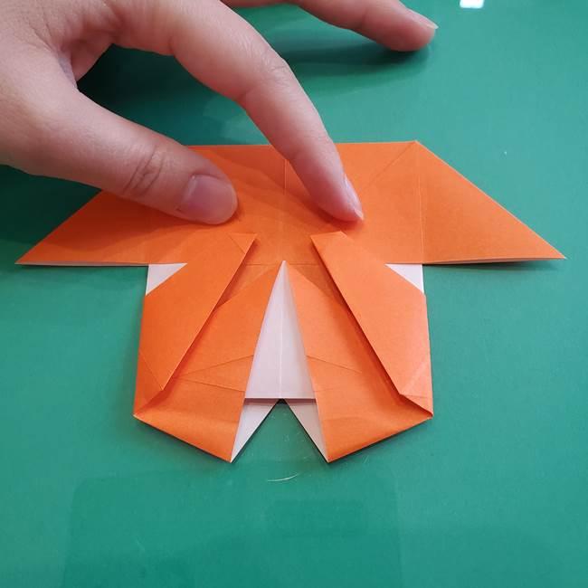 ヒトカゲの折り紙の簡単な折り方作り方②からだ(27)