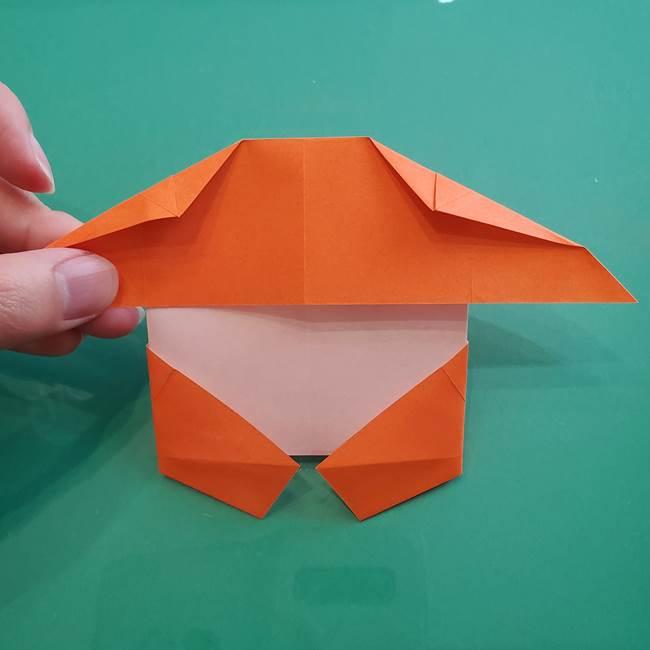 ヒトカゲの折り紙の簡単な折り方作り方②からだ(29)