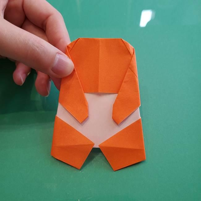 ヒトカゲの折り紙の簡単な折り方作り方②からだ(33)