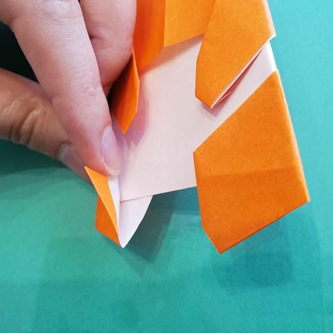 ヒトカゲの折り紙の簡単な折り方作り方②からだ(35)