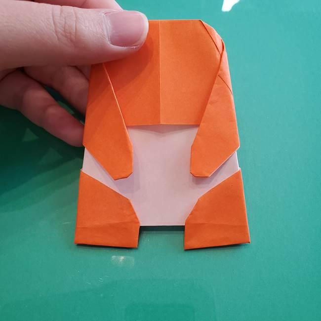 ヒトカゲの折り紙の簡単な折り方作り方②からだ(37)