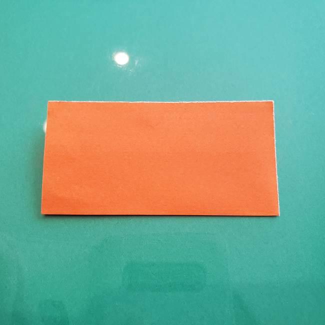 ヒトカゲの折り紙の簡単な折り方作り方③しっぽ(2)