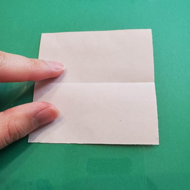ヒトカゲの折り紙の簡単な折り方作り方③しっぽ(3)