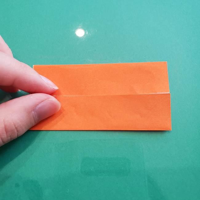 ヒトカゲの折り紙の簡単な折り方作り方③しっぽ(4)